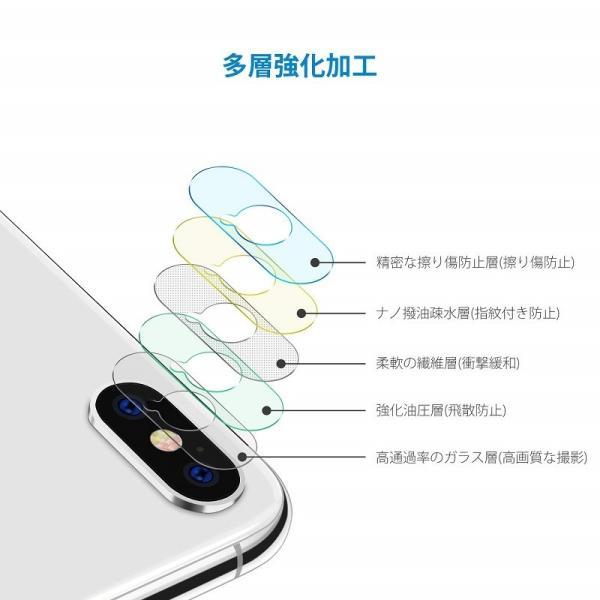 iPhoneX  レンズ保護カメラフィルム  4セッド  ガイド枠付き/貼り付け簡単/超薄型/高透過率/擦り傷防止/自動吸着 Nimaso|nimaso|04