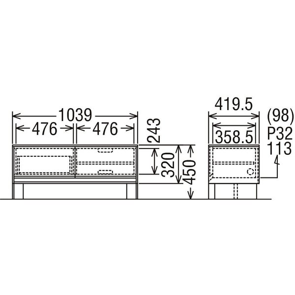 カリモク テレビボード CANVAS キャンバス QW3507 ローボード karimoku|nimus|06