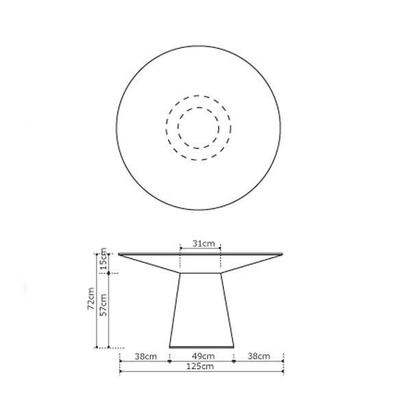 モーダエンカーサ ダイニングテーブル TEMPO テンポ ラウンド 円形テーブル moda en casa|nimus|08