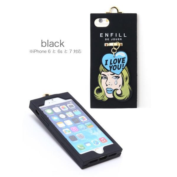 【送料無料】スマホケース アイフォンケース iPhone8/7/6s/6対応 チャーム付きアメコミ風シリコンiphoneケース ゆうパケット対応280円|nina-happy-casual|02