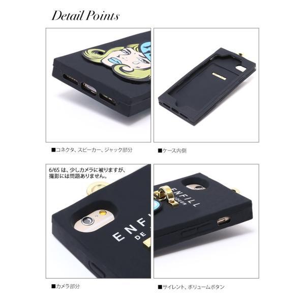 【送料無料】スマホケース アイフォンケース iPhone8/7/6s/6対応 チャーム付きアメコミ風シリコンiphoneケース ゆうパケット対応280円|nina-happy-casual|03