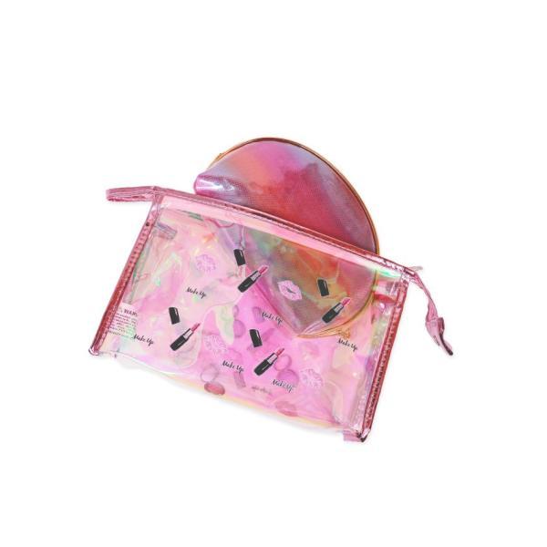 レディース サマーバッグ summer クラッチバッグ クリアバッグ Nina ニーナ インナーポーチ付き2wayビニールビーチバッグ (ピンク)