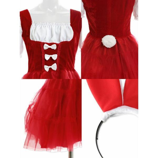 サンタ サンタコス クリスマス レディース コスプレ コスチューム 2018 バニーガール バニー 3点セット うさぎ  大人 コスプレ衣装 仮装 衣装 パーティー|nina-happy-casual|11