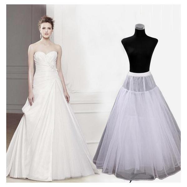 eb60c52397e6a ワイヤーなし 大人ドレスワイヤーなしパニエ ウェディングドレス用 エンパイア Aライン 白 レディース ドレス ...