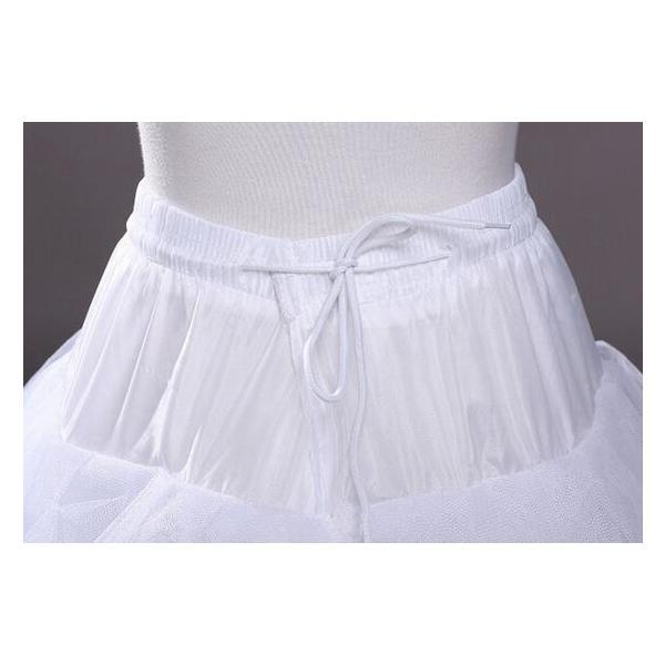 bbc278e99b612 ... パニエ ワイヤーなし 大人ドレス ウェディングドレス用 エンパイア Aライン 白 レディース ドレス ボリューム チュール