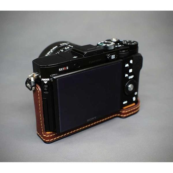 LIM'S リムズ Italian Genuine Leather Metal grip Half Case for SONY RX1RII SY-RX1R2BR Brown ソニー DSC-RX1RM2用 カメラケース