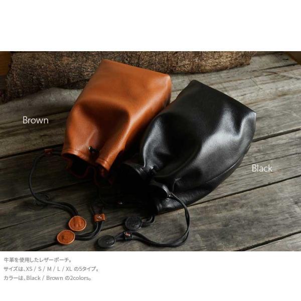 TP Original Leather Pouch Lサイズ 2colors TA19 レザーポーチ 本革 カメラポーチ レンズポーチ 巾着 きんちゃく袋 カメラ女子