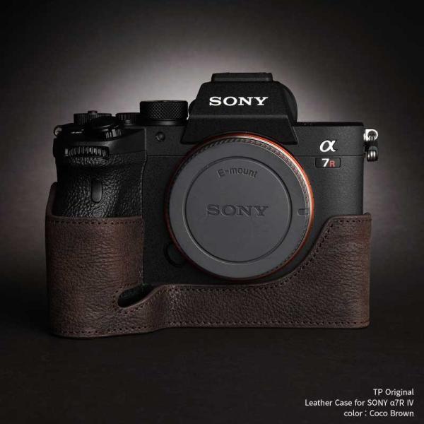 TP Original SONY α7R IV / α9II 専用 レザー カメラケース Coco Brown ココ ブラウン A7R4 α7R4 A9II TB06A74-CO