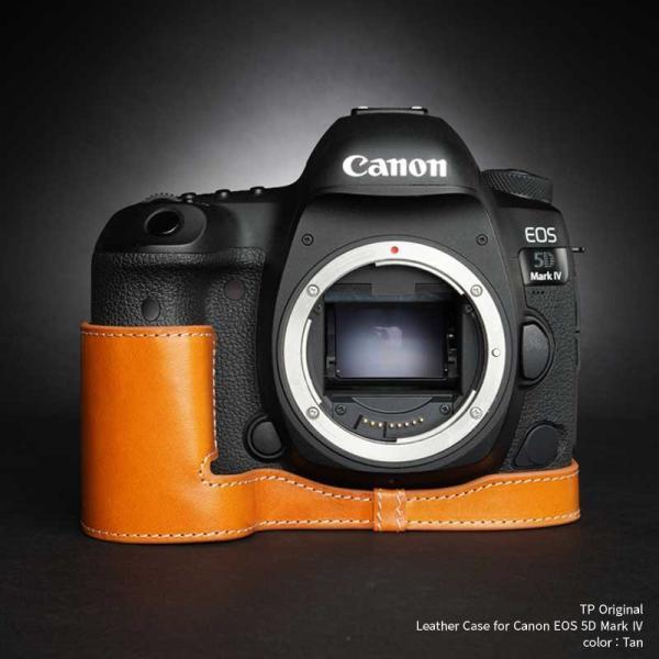 TP Original Leather Camera Body Case for Canon EOS 5D Mark IV Tan キャノン 本革 レザー カメラケース EZ Series TB06E5D4-WB
