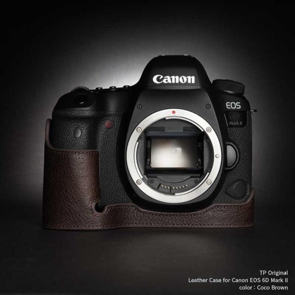 TP Original Leather Camera Body Case for Canon EOS 6D Mark II Coco Brown キャノン 本革 レザー カメラケース EZ Series TB06E6D2-CO