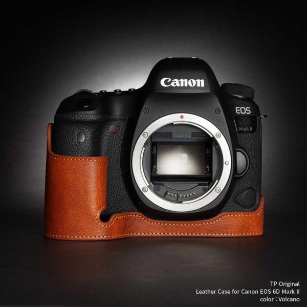 TP Original Leather Camera Body Case for Canon EOS 6D Mark II Volcano キャノン 本革 レザー カメラケース EZ Series TB06E6D2-LB
