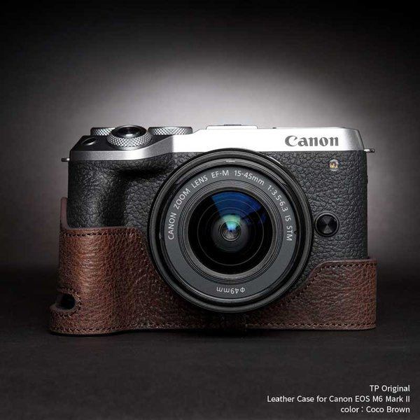 カメラケース TP Original Leather Camera Body Case for Canon EOS M6 Mark II Coco Brown キャノン 本革 レザー ケース EZ TB06EOS62-CO