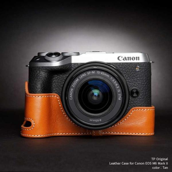 カメラケース TP Original Leather Camera Body Case for Canon EOS M6 Mark II Tan キャノン キヤノン 本革 レザー ケース EZ TB06EOS62-WB