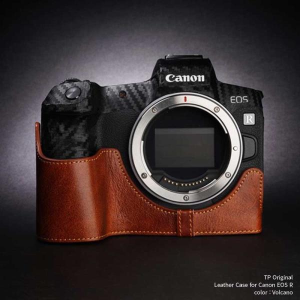 TP Original Leather Camera Body Case for Canon EOS R Volcano キャノン キヤノン 本革 レザー カメラケース EZ Series TB06EOSR-LB