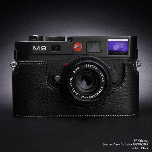 TP Original Leather Camera Body Case for Leica M8/M9/M9P Black ライカ 本革 レザー カメラケース Classic Series TB05M8-BK
