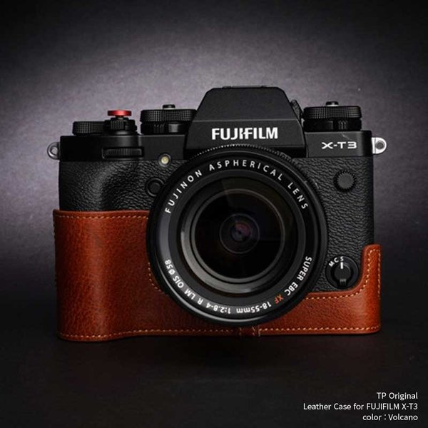 TP Original Leather Camera Body Case for FUJIFILM X-T3/X-T2 Volcano フジフイルム フジフィルム 本革 レザー カメラケース おしゃれ