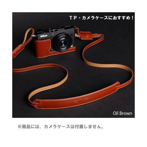 TP Original ティーピー オリジナル Leather Camera Neck Strap 本革カメラネックストラップ TP-1001 Oil Brown(オイル ブラウン)