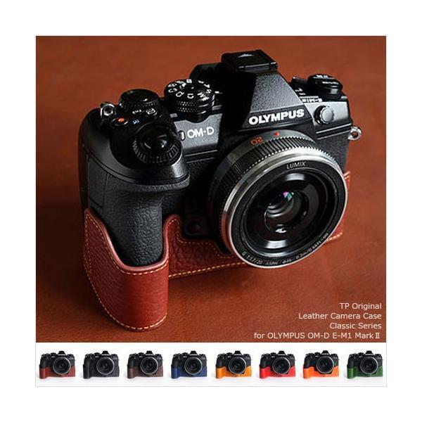 TP Original Leather Camera Body Case for OLYMPUS OM-D E-M1 MarkII おしゃれ 本革 カメラケース 8colors