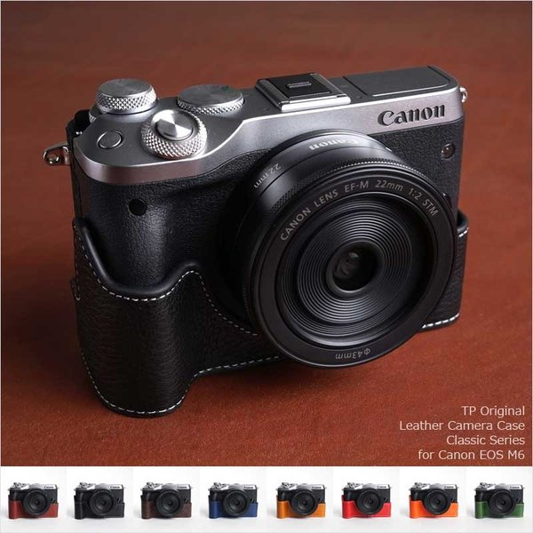 TP Original Leather Camera Body Case for Canon EOS M6 おしゃれ 本革 カメラケース 8colors キヤノン キャノン