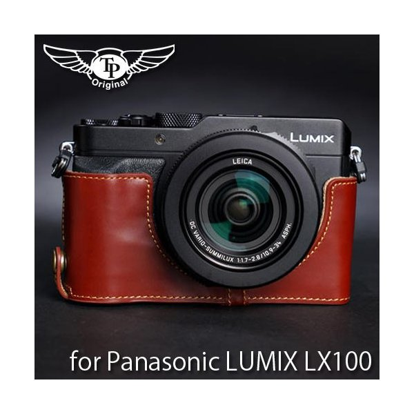 TP Original Leather Camera Body Case for Panasonic LUMIX LX100 おしゃれ 本革 カメラケース Oil Brown(オイル ブラウン)