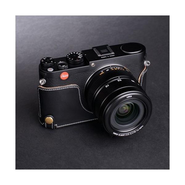 TP Original ティーピー オリジナル Leather Camera Body Case for Leica X Vario おしゃれ 本革 カメラケース Oil Black(オイル ブラック)