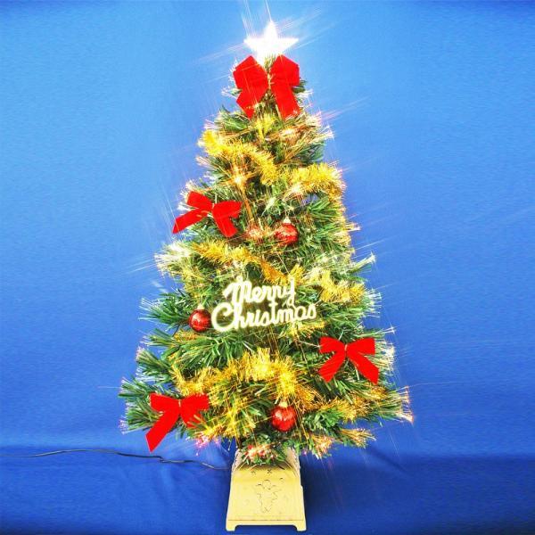 クリスマスツリー 北欧 90cmファイバーツリーセット 飾り ningyohonpo 02