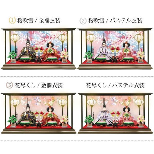 雛人形 ひな人形 数量限定!コンパクトピンク親王ケース飾り 2018|ningyohonpo|16