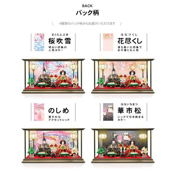雛人形 ひな人形 数量限定!コンパクトピンク親王ケース飾り 2018|ningyohonpo|05