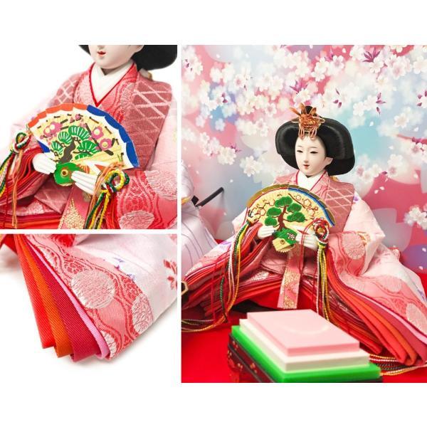 雛人形 ひな人形 数量限定!コンパクトピンク親王ケース飾り 2018|ningyohonpo|09
