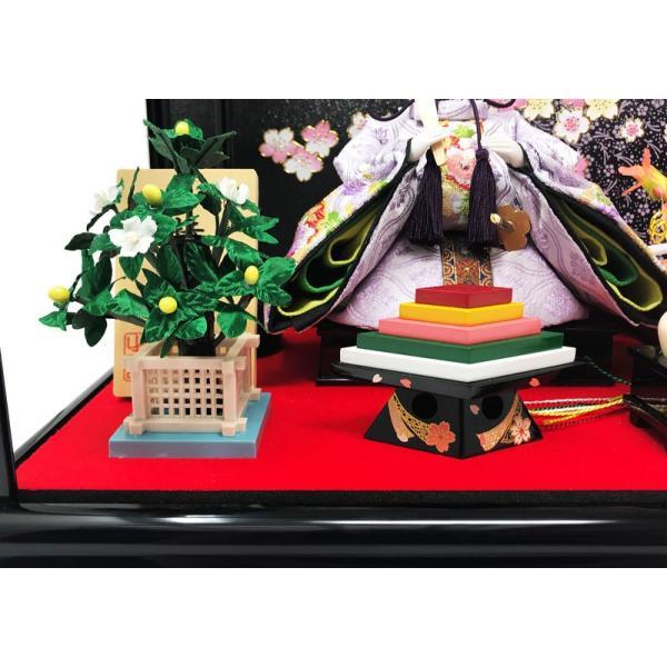 雛人形 ひな人形 コンパクト 漆調ケース飾り 雛 親王飾り 【2019年度新作】プレミアム4点セット|ningyohonpo|16
