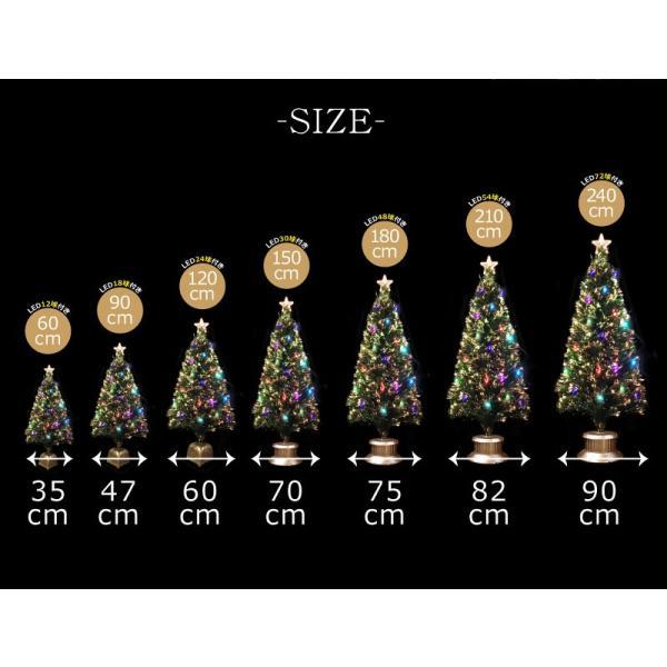 クリスマスツリー 北欧 グリーンファイバーツリー120cm(マルチLED24球付) 飾り|ningyohonpo|04
