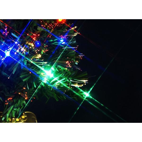 クリスマスツリー 北欧 グリーンファイバーツリー120cm(マルチLED24球付) 飾り|ningyohonpo|05