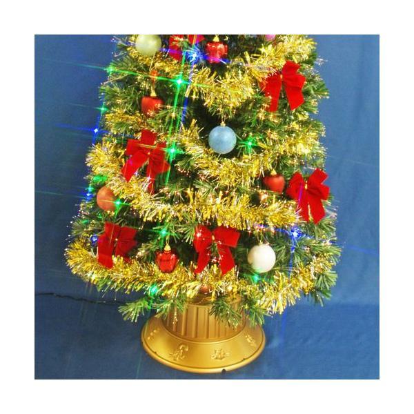 クリスマスツリー 北欧 ファイバーツリー 210cmグリーンファイバーツリーセット12 マルチLED54球付 飾り|ningyohonpo|04