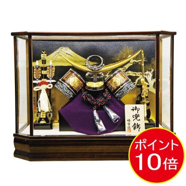 【送料無料】五月人形 オルゴールつき上杉謙信兜六角ケース飾りkabuto-49|ningyohonpo