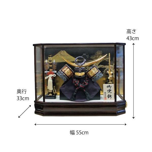 【送料無料】五月人形 オルゴールつき上杉謙信兜六角ケース飾りkabuto-49|ningyohonpo|04