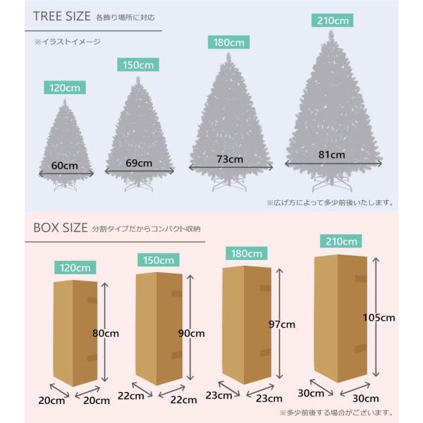 クリスマスツリー 180cm おしゃれ 北欧 SCANDINAVIAN ドイツトウヒツリーセット 飾り|ningyohonpo|10