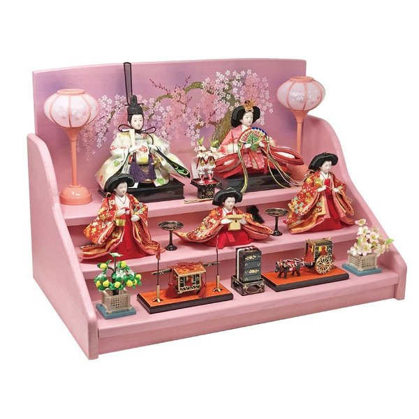 雛人形 ひな人形 焼桐三段飾り ningyohonpo 12
