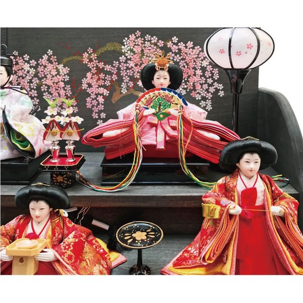 雛人形 ひな人形 焼桐三段飾り ningyohonpo 06
