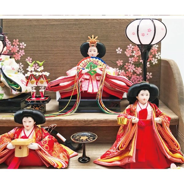 雛人形 ひな人形 焼桐三段飾り ningyohonpo 10