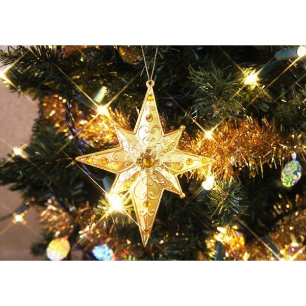 【ゾロ目クーポン】クリスマスツリー 北欧 オーナメント 飾り 15cmベネチアンスター 幅15cm 飾り|ningyohonpo|05