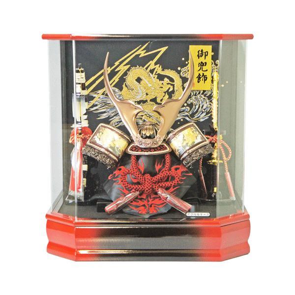 【送料無料】 軽くて丈夫 オルゴール付き飛龍六角アクリルケース飾りkabuto-49|ningyohonpo