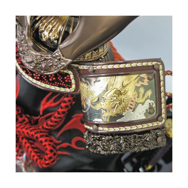 【送料無料】 軽くて丈夫 オルゴール付き飛龍六角アクリルケース飾りkabuto-49|ningyohonpo|03