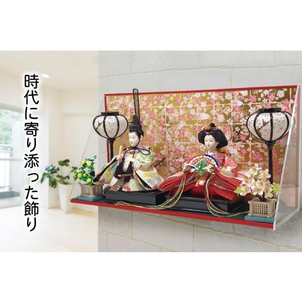雛人形 ひな人形 壁掛けL字ケース コンパクト 雛 親王飾り ningyohonpo 02
