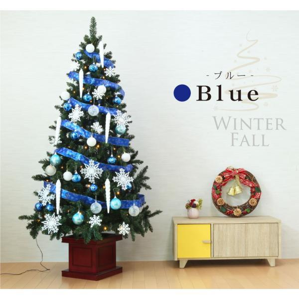 クリスマスツリー 120cm おしゃれ 北欧 Winter Fall ウッドベースツリーセット 飾り|ningyohonpo|15