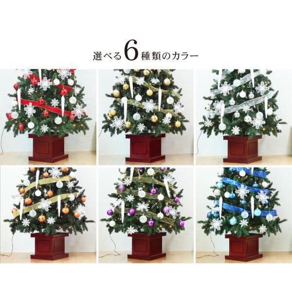 クリスマスツリー 120cm おしゃれ 北欧 Winter Fall ウッドベースツリーセット 飾り|ningyohonpo|03
