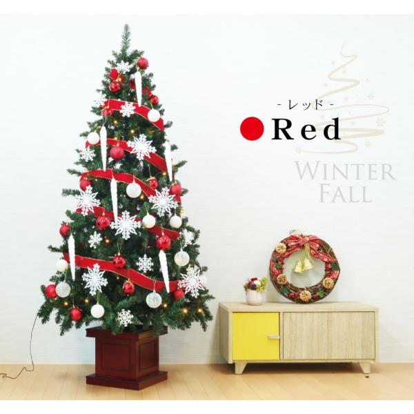 クリスマスツリー 120cm おしゃれ 北欧 Winter Fall ウッドベースツリーセット 飾り|ningyohonpo|05