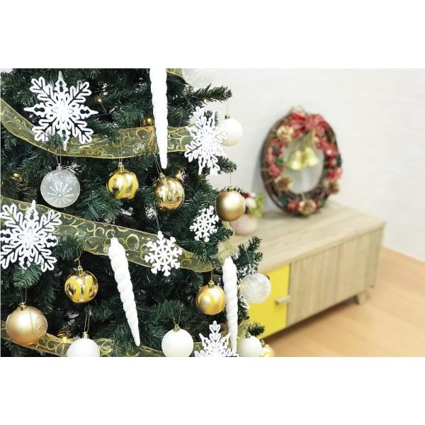 クリスマスツリー 120cm おしゃれ 北欧 Winter Fall ウッドベースツリーセット 飾り|ningyohonpo|06