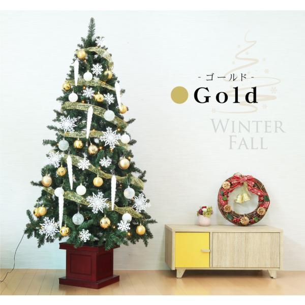 クリスマスツリー 120cm おしゃれ 北欧 Winter Fall ウッドベースツリーセット 飾り|ningyohonpo|07