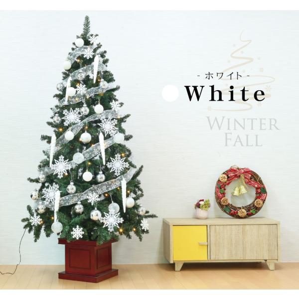クリスマスツリー 120cm おしゃれ 北欧 Winter Fall ウッドベースツリーセット 飾り|ningyohonpo|09