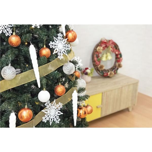 クリスマスツリー 120cm おしゃれ 北欧 Winter Fall ウッドベースツリーセット 飾り|ningyohonpo|10